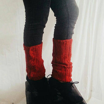 Women's legwarmers, Crochet boot socks, Womens winter accessories