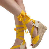 Pina Colada Wedge | Mod Retro Vintage Wedges | ModCloth.com