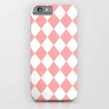 Coral Pink Diamonds iPhone & iPod Case by BeautifulHomes
