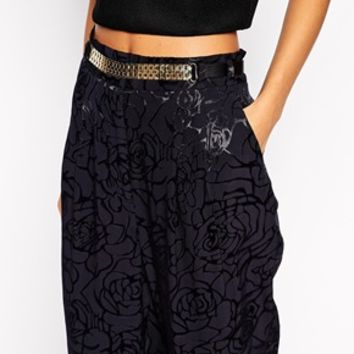 River Island Belted Jacquard Trouser