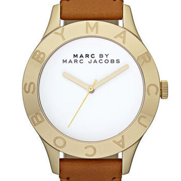 MARC BY MARC JACOBS 'Large Blade' Leather Strap Watch | Nordstrom