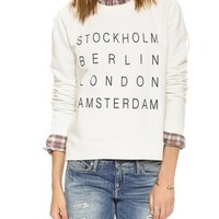 City Names Crop Sweatshirt