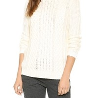 Dakota Collective Stacey Hooded Cable Sweater