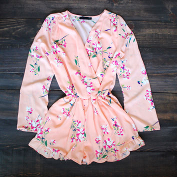 Garden of Peach Floral Romper