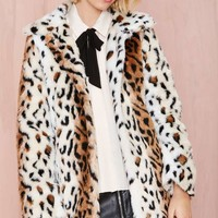 Motel Fudge Leopard Coat