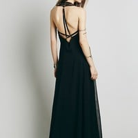 Free People Womens Demeter Gown - Black Combo,