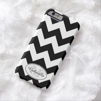 Black & White Chevron: Personalized: iPhone 6 case