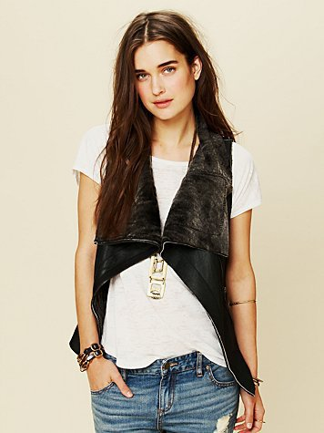 Free People Leather Vest