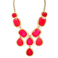 Pree Brulee - Fuchsia &amp; Neon Pink Bauble Necklace