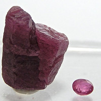 Red Ruby Crystal Ruby Faceted Stone July Birthstone