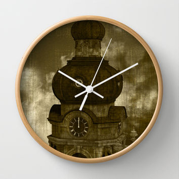 The Clock Tower II Wall Clock by Texnotropio | Society6