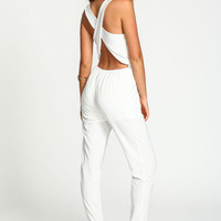 CRISS CROSS CHIFFON JUMPSUIT
