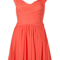 Coral Sleeveless Ruched Dress - Dresses - Clothing - Topshop