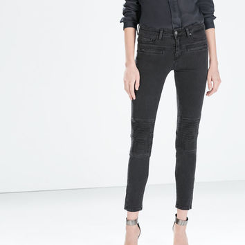 Medium-rise slim-fit jeans