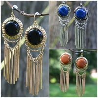 To The Point Stone Drop Earrings