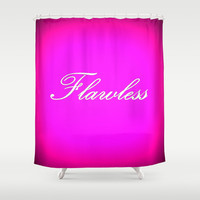 Flawless Hot Pink Shower Curtain by 2sweet4words Designs | Society6