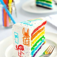food ideas / What a cute idea! A doodle cake! :) BUT HOW!!