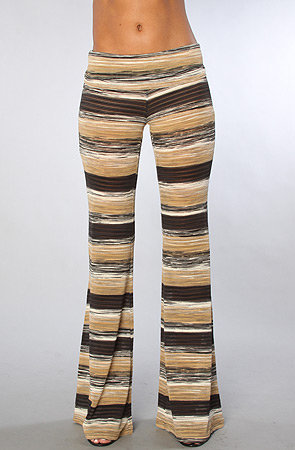 The Striped Knit Flare Pant