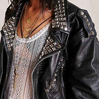 Urban Renewal Vintage Studded Leather Jacket - Urban Outfitters