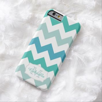 Green & Blue Chevron: Personalized: iPhone 6 case