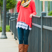 The Brooklyn Sweater, Bright Coral