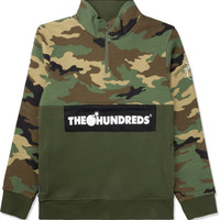 The Hundreds Camo Dime Half-zip Sweater | HYPEBEAST Store. Shop Online for Men's Fashion, Streetwear, Sneakers, Accessories