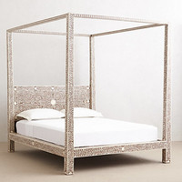 Bone Inlay Four Poster Bed