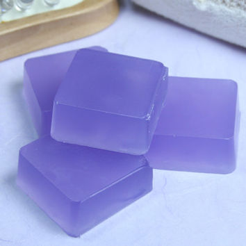 Lavender Soap Favor, Mini Soap Bars, Aloe Vera Soap, Purple Soap, Cute Soap, Scented Homemade Soaps, Essential Oil Soap, SLS Free