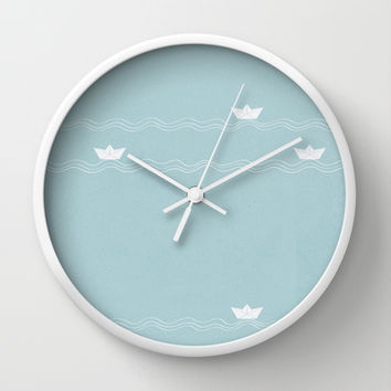 Martin, Across the Wide Sea Wall Clock by Timone | Society6