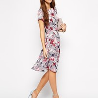 Love Midi Skater Dress in Floral at asos.com