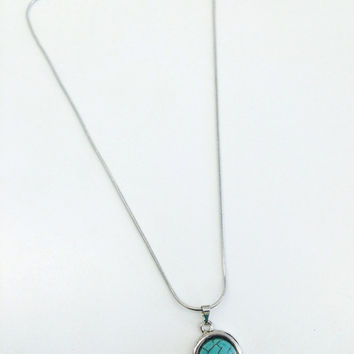 Baby Turquoise Gem Necklace from shopoceansoul