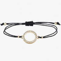 PAVE CIRCLE CORD BRACELET from EXPRESS