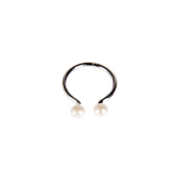 Pearl Cuff Knuckle Ring - Silver / One