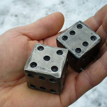 "BLACKSMITH FORGED DICE  (1 1/4"" square)"
