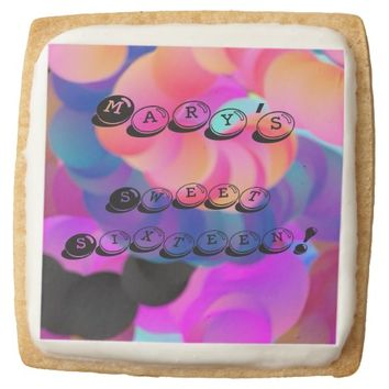 Colorful Personalized Text Celebration Cookies