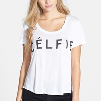 Junior Women's Recycled Karma 'Celfie' Graphic Tee