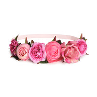 H&M - Hairband with Flowers - Pink - Ladies