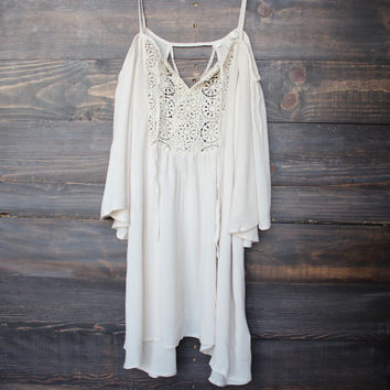 desert sand dress cold shoulder off shoulder free spirit flowy bohemian boho chic gypsy urban