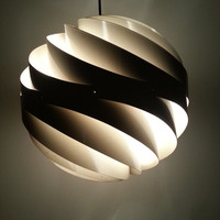 60s TURBO LIGHT 36 by Louis Weisdorf for Lyfa Denmark / Original 1963 lamp