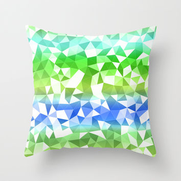 Quarry Ocean Throw Pillow by Lisa Argyropoulos