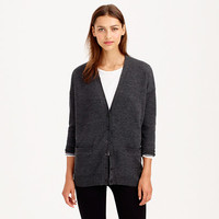 MERINO WOOL DOUBLE-KNIT LONG CARDIGAN