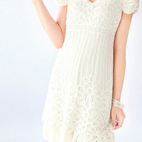 romantic memory crochet dress