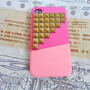 iphone bronze pyramid stud  Hard Case For Apple iPhone 4 Case, iPhone 4s Case, iPhone 4 Hard Case,iPhone 4 GS case ,iPhone hand cover-078