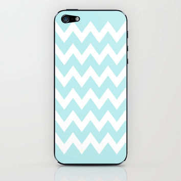 Turquoise Aqua Blue Chevron iPhone & iPod Skin by BeautifulHomes