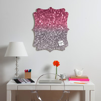 Lisa Argyropoulos Rose And Gray Quatrefoil Magnet Board