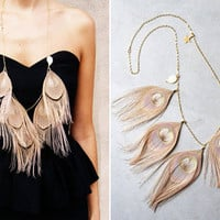 Lace & Tea » Peacock feather necklace by miss kk