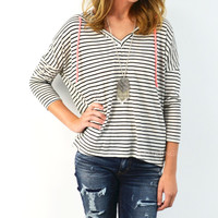 Style Cred Striped Hoodie