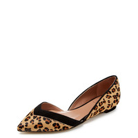 Amali Pointed-Toe D'Orsay Flat