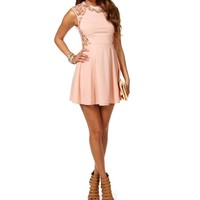 Blush Crochet Side Skater Dress