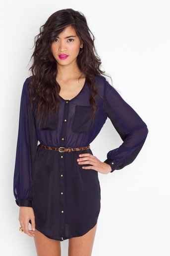 Black 'n Blue Shirtdress